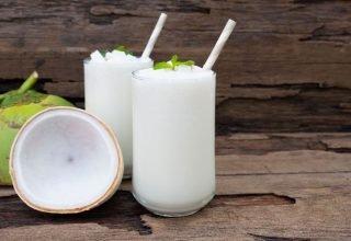 Suco de Coco Verde com Hortelã